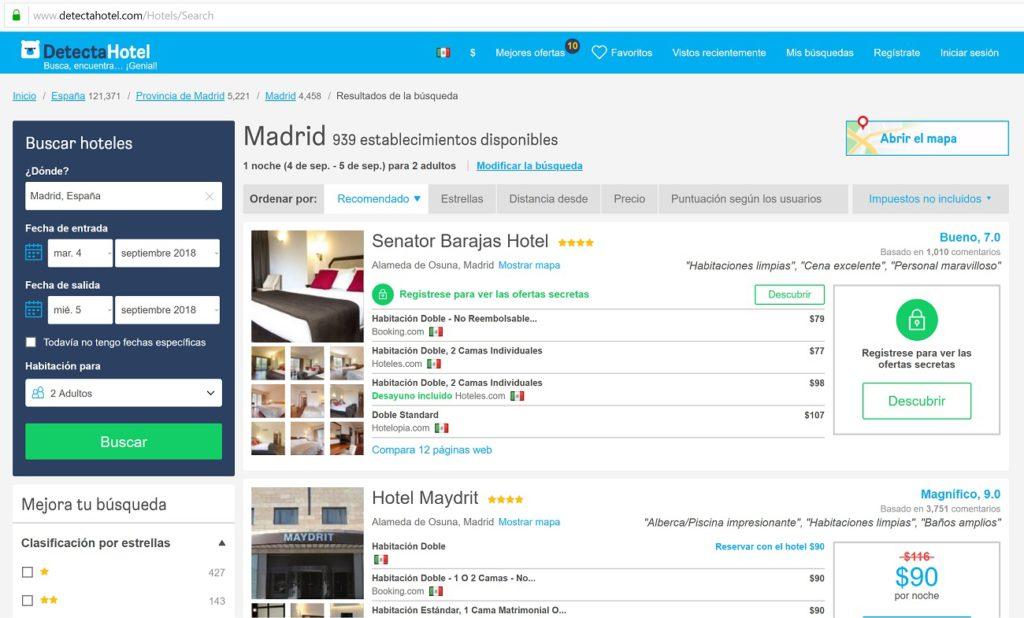 Resultado HotelsCombined