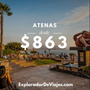 Vuelo más barato a Atenas desde Perú