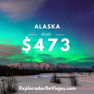 Vuelo más barato a Alaska desde Costa Rica