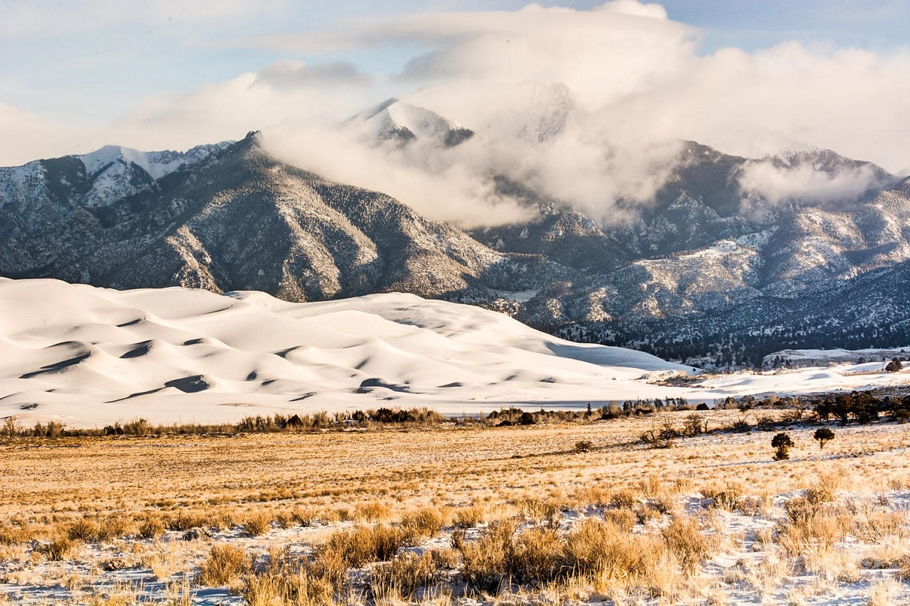Snow in Great Sand Dunes National Park
