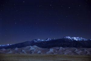 Parque Nacional Grandes Dunas de Arena de noche